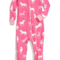 Hatley 'Classic Horses' Fitted One-Piece Pajamas (Baby Girls) | Nordstrom