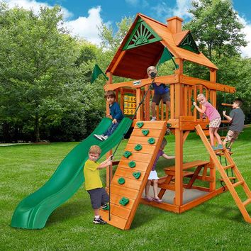 Gorilla Playsets Chateau Tower Wooden Swing Set