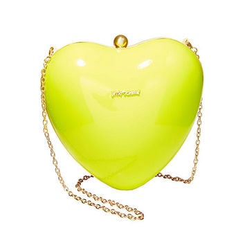 HEARTS DONT LIE CLUTCH: Betsey Johnson