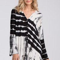 Billabong - Secret Moves Dress | Black Tie Dye