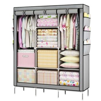 Large Portable Closet For Storage  With Shelves Multi Layer Sturdy Durable Unit