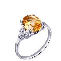 1.56ct Citrine silver ring