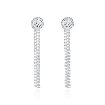 18K White Gold Plated Linear Chandelier Drop Earring
