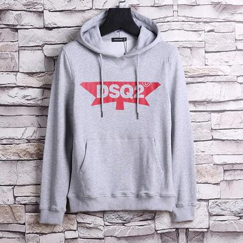 Dsquared Men Fashion Casual Hooded Top Sweater Pullover-1