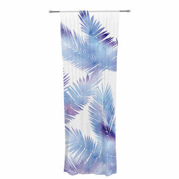 "Draper ""Tropic Breeze"" Blue Digital Decorative Sheer Curtain"