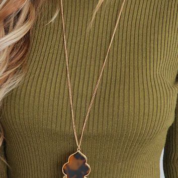 The Right Way Necklace: Gold/Multi