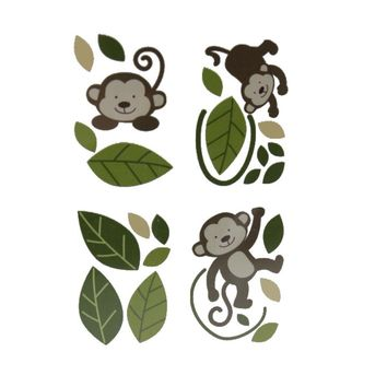 "Babies""R""Us Monkey Door/Window Wall Decal Set"