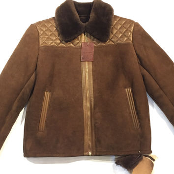 "Jakewood ""Alaska"" Brown Shearling Jacket"