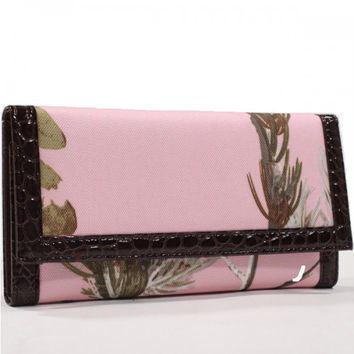 Realtree Camouflage Trifold Checkbook Wallet - AW89