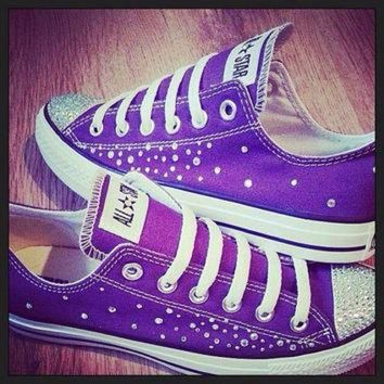 DCKL9 Converse and Wedding Converse / Vans / Nike / Pumps Silver Swarovski Diamonte / Diaman