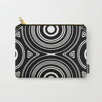 Concentric Circles and Ovals Pattern Carry-All Pouch by Lyle Hatch