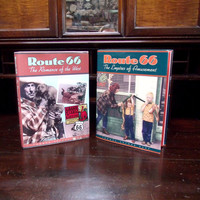 "2 Route 66 Book Set, First Edition Signed Thomas Arthur Repp, ""Route 66 The Romance Of The West"" & ""Route 66: Empires Of Amusement"""