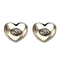 Pamela Love Aeternum Earrings - Heart Stud Earrings - ShopBAZAAR