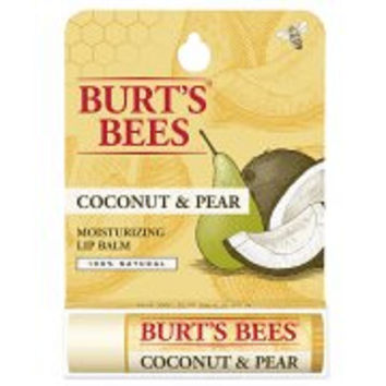 Burt's Bees 100% Natural Moisturizing Lip Balm, Coconut & Pear, 1 Tube in Bliste