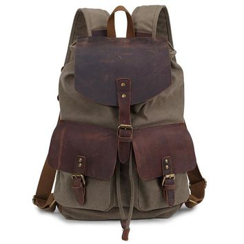 new Korean Canvas Backpack backpack men travel bag  female bag retro leather