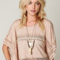 Free People Intersections in Lace Tee at Free People Clothing Boutique
