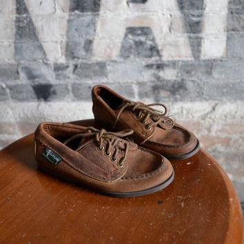 Vintage Childrens Timberland Leather Boat Shoes Loafers, size 12