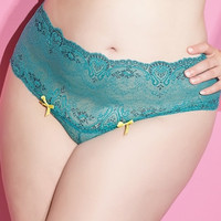 Plus Size Totally Turquoise Highwaisted Panty