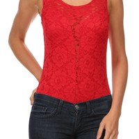 Sleeveless Lace Body Suit