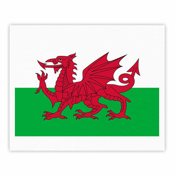 "Bruce Stanfield ""Flag Of Wales - Authentic"" Fantasy Illustration Fine Art Gallery Print"