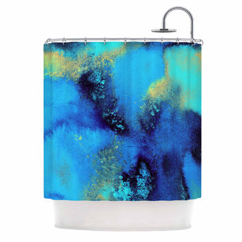 "Nina May ""Salten Sea"" Blue Teal Shower Curtain"