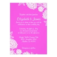 Elegant Hot Pink Wedding Invitations