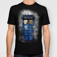 Tardis Doctor Who In The Mist T-shirt by Pointsalestore