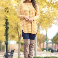 Totally Natural Top in Mustard | Monday Dress Boutique
