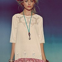 Free People  Springtime Lattice Tunic at Free People Clothing Boutique