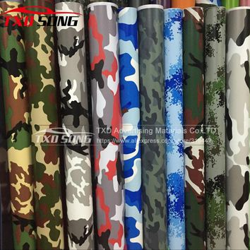 Good quality Different Car Styling Large Digital Woodland Green Camo Camouflage Vinyl Film Sticker Wrap Desert Camouflage film