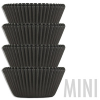 Mini Gunmetal Black Baking Cups