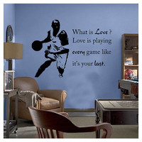 Play Every Game Like Its Your Last Inspirational Sports Wall sticker Quote Gym