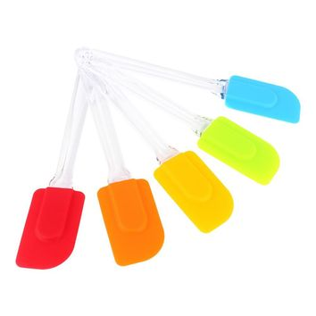 Silicone Spatula Heat Resistant Silicone Spatulas Flipping Serving Non-stick Silcone DIY Baking Pastry Spoon Kitchen Cake Tools