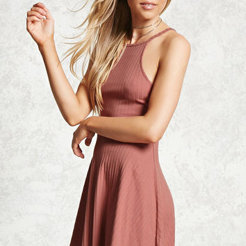 Caged-Back Skater Dress - Dresses Under $25 - 2000083011 - Forever 21 Canada English