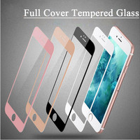 Colorful Full Cover Tempered Glass Screen Protector For iPhone 7 6 6s 7 plus Toughened Glass Protective Film pelicula de vidro