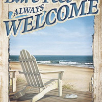 "Bare Feet Welcome Standard Flag 28"" x 40"" â?? Seaside Flags and Gifts"