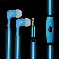 Earphones YAMAY® LED Light Up 3.5mm Earbuds In Ear Design Headphones Headset Beats with Microphone Volume Control High Quality for Kids Girls Running Sport for Sony Samsung Android iPhone Blue