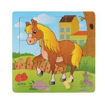 2018 New Fashion Wooden Horse Jigsaw Toys For Kids Education And Learning Puzzles Toys With High Quality Hot Sale For Children#