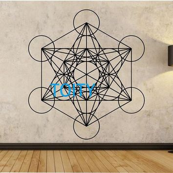 Metatrons Cube Wall Decal Sticker