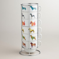 Dog Stacking Mugs, Set of 6 - World Market