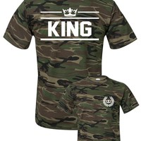 KING t-shirt in camo style ★ SPECIAL ARMY COLLECTION ★