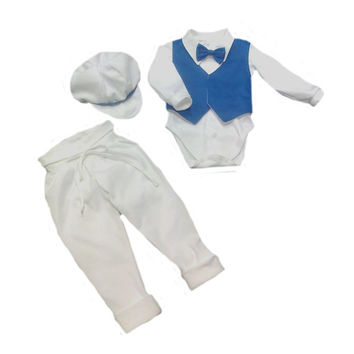 Babyboy baptism set made of all organic materials