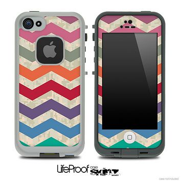 Vintage Colorful Digital Camo Chevron Pattern for the iPhone 5 or 4/4s LifeProof Case