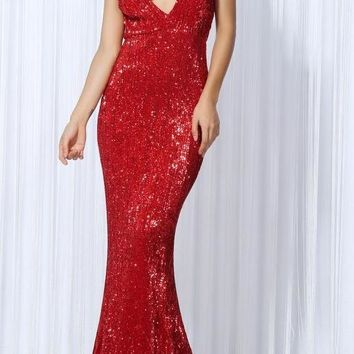 Arya Red Luxury Gown