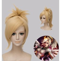 Overwatch Cosplay Mercy Wig