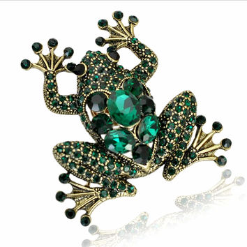 Enamel Crystal Brooches unisex shirt collar pin scarf rhinestone alloy jewelry