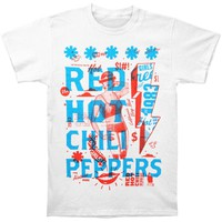 Red Hot Chili Peppers Men's  Multiply T-shirt White