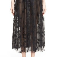 Ashley Williams 'Flock Fly' Sheer Tulle Skirt | Nordstrom
