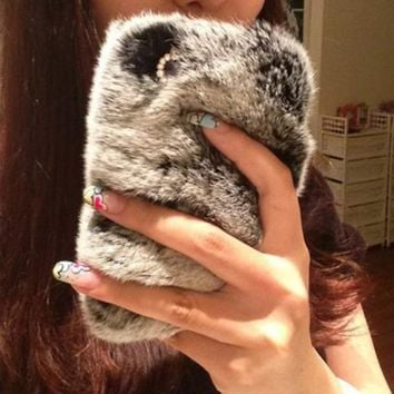 Fluffy Soft Fur Winter Warm Case for iPhone