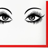 Wall Stickers Vinyl Decal Sexy Eyes With Long Lashes For Living Room Unique Gift (z1711)